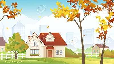21717408-Vector-illustration-of-fall-suburbs-Stock-Vector-suburban-house